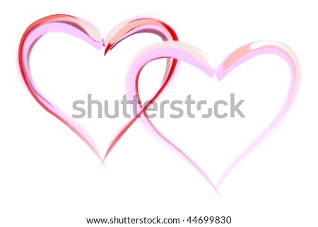 Illustration of heart, ideal for valentines card or related themes.