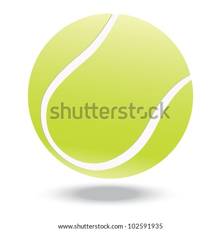 illustration of highly rendered tennis ball, isolated in white background.