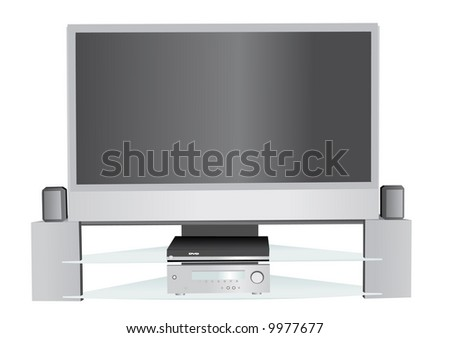Illustration of home theater system