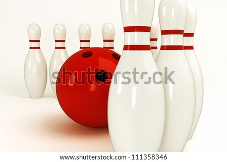 illustration of image of skittle and bowling ball
