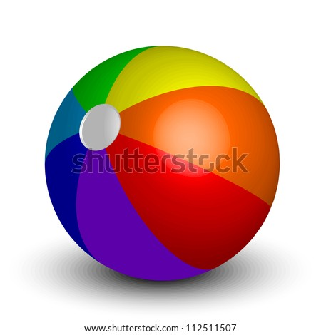 illustration of inflatable beach ball