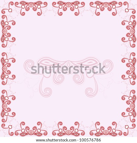 Illustration Of Invitation Card With Red Asian Design 100576786 – Invitation Card Design Free