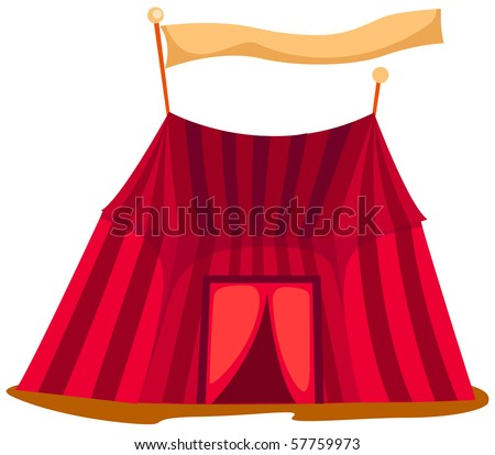 illustration of isolated  a circus tent on white background