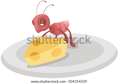 Cute Ant Logo Isolated Cute Ant Carrying
