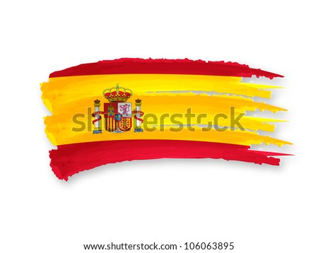 Illustration of Isolated hand drawn Spanish flag