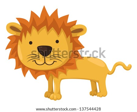 illustration of isolated lion on white background