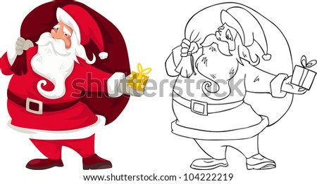 illustration of isolated santa claus