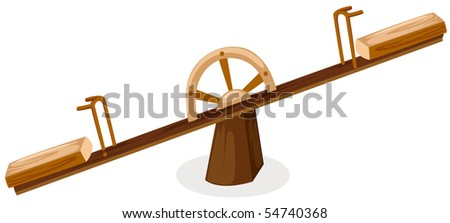 illustration of isolated see saw on white background
