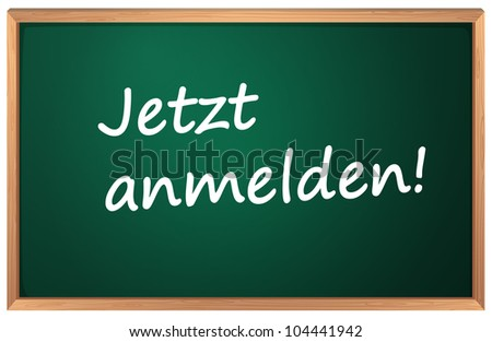 Illustration of Jetzt anmelden sign - EPS VECTOR format also available in my portfolio. - stock photo