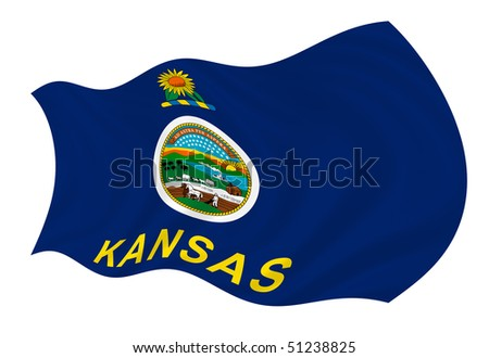 illustration of kansas state flag waving in the wind ez canvas