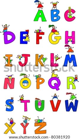 Illustration Of Letters Of The Alphabet In Uppercase Form With ...