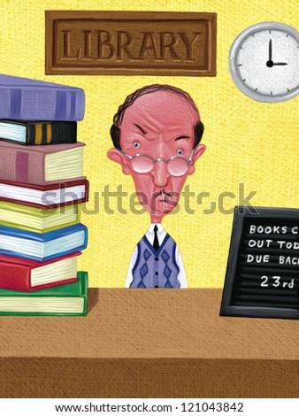 illustration of Librarian