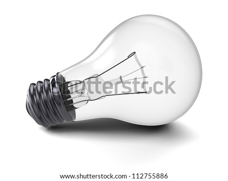 Illustration of lightbulb isolated on white background