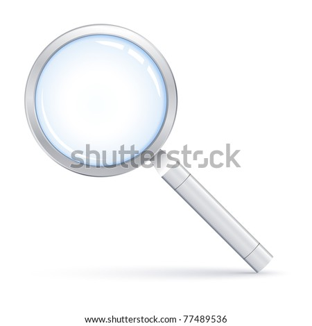 Illustration of Magnifying glass - stock photo