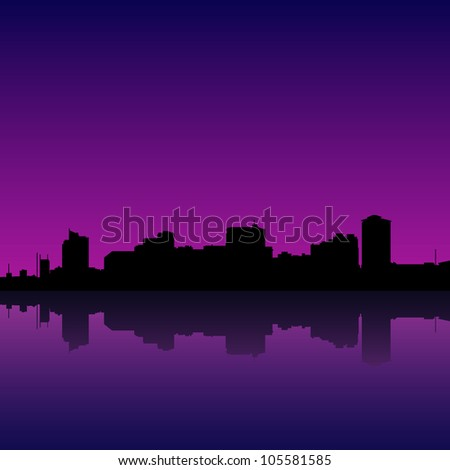 illustration of manila bay skyline, manila cityscape.
