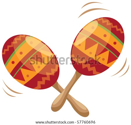 illustration of maracas instrument on white background