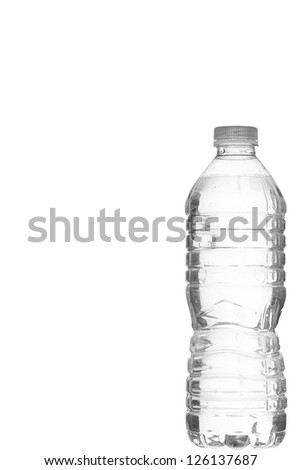 Illustration of mineral water in close-up image - stock photo