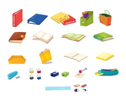 Illustration of mixed stationary office items - EPS VECTOR format also available in my portfolio.