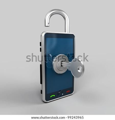 illustration of mobile phone - stock photo
