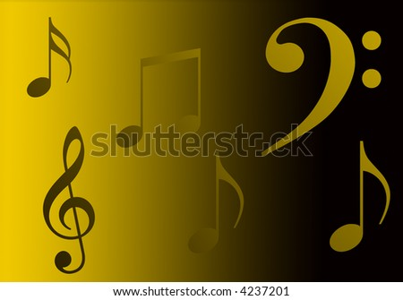 illustration of music for deep, surrounding, etc...