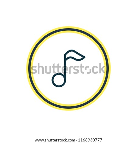 illustration of music note icon line. Beautiful hobby element also can be used as quaver icon element.