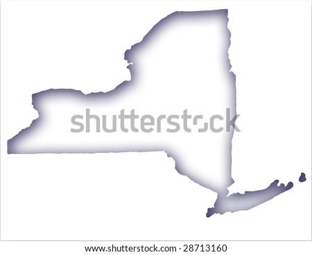 Illustration of New York State