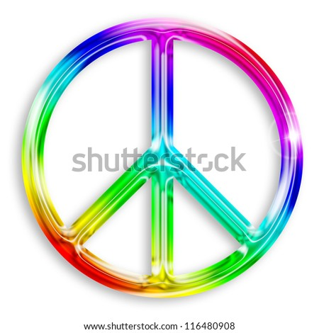 illustration of peace symbol isolated on white background