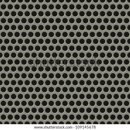 Illustration of perfectly seamlessly tiling metal grill pattern