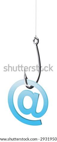 Illustration of phishing fraud online via e-mail