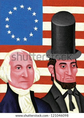 illustration of Presidents Day
