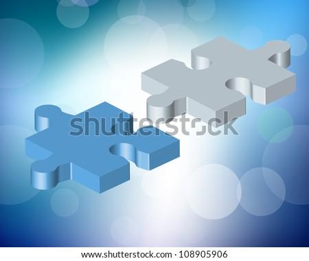 Illustration of puzzle mosaic background