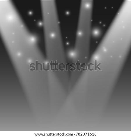 Illustration of Realistic Stage Light. Transparent Festival Light Effect