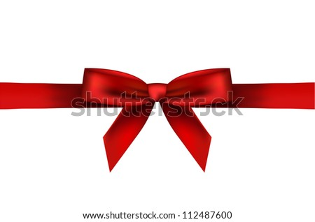 illustration of red bow