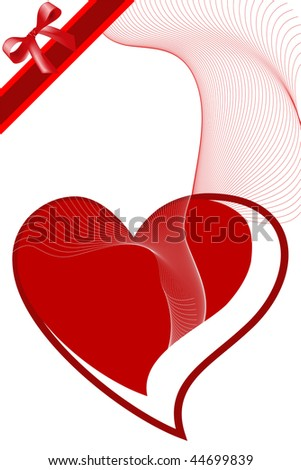 Illustration of red icon heart, ideal for valentines card or related themes.