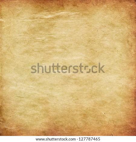Illustration of retro grunge yellow paper texture background. - stock photo
