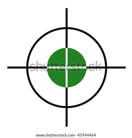 Illustration of rifle or gun cross hairs target sight. - stock photo
