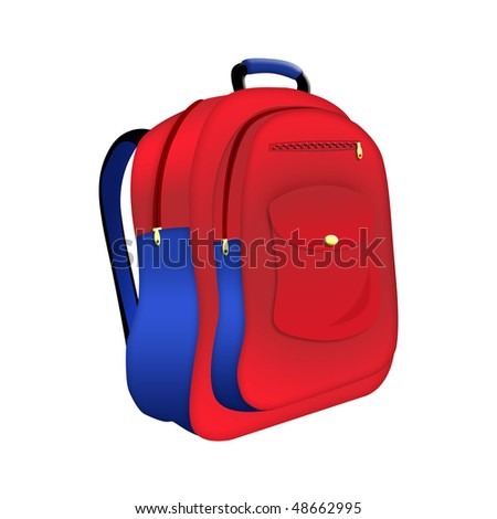 Illustration of school backpack on a white background