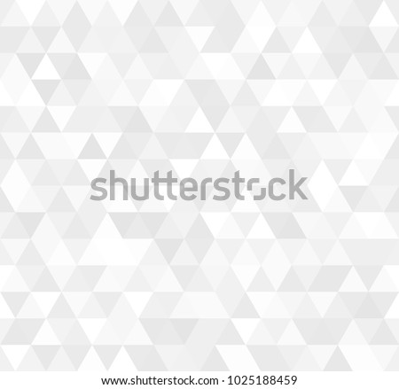 Illustration of Seamless white abstract pattern. Geometric print composed of triangles and polygons. Background #1025188459