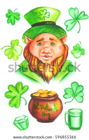 illustration of set of Saint Patrick's Day