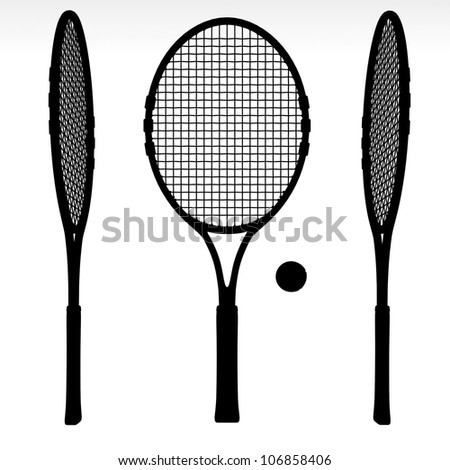 illustration of several silhouettes of tennis