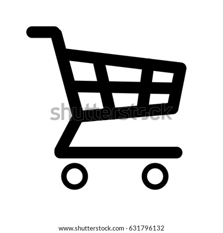 Illustration  of Shopping Cart Icon Silhoutte. JPEG Raster Image .