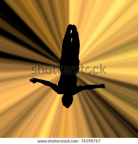 illustration of silhouette man in beams