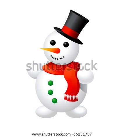 Illustration of snowman.