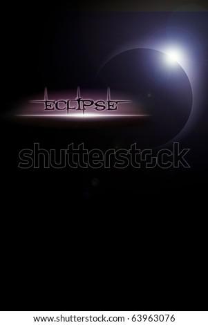 Illustration of solar eclipse