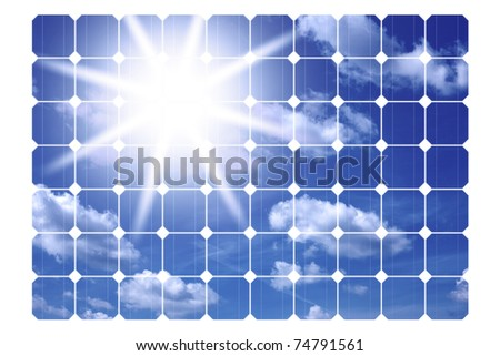 illustration of solar panels isolated on a white background