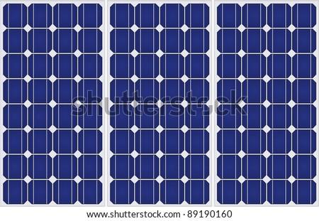 Illustration of solar panels pattern in a uniform formation.