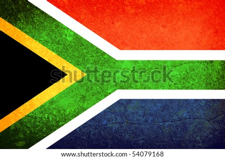 Illustration of south africa flag. Vintage effect