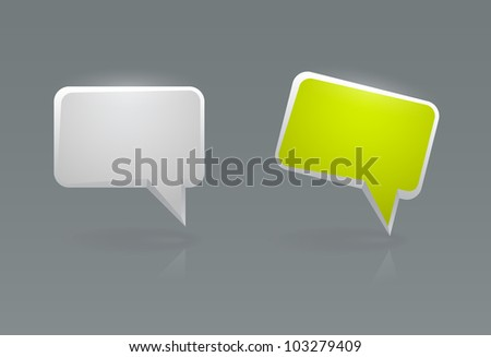 Illustration of speech bubble icons