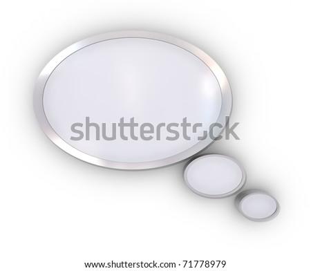 illustration of speech bubble on white