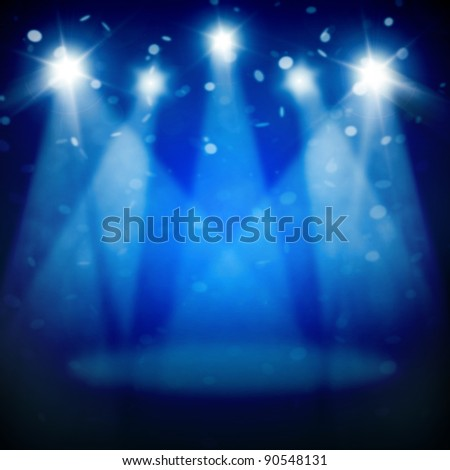 Illustration of Stage Spotlight with rays
